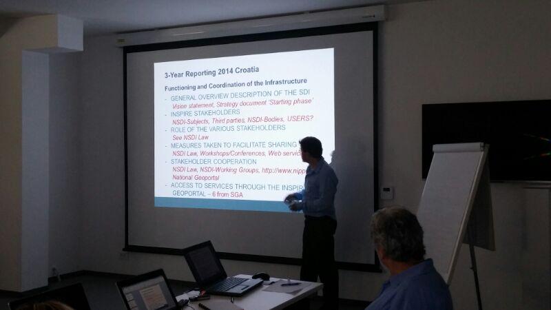 Slika prikazuje održanu prezentaciju u prostorijama Državne geodetske uprave.