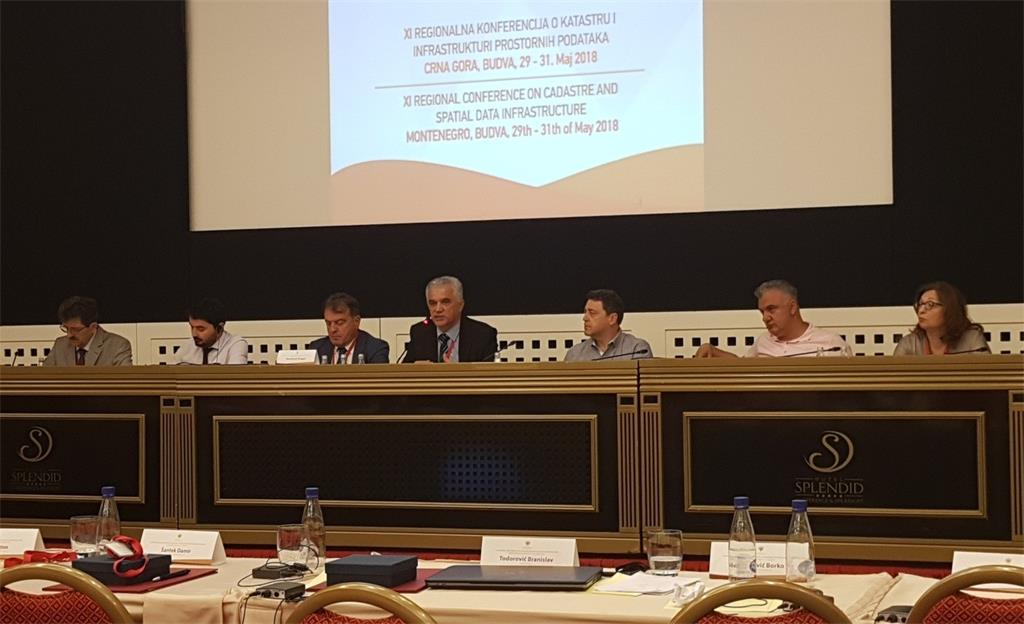 The picture shows representatives of institutions from various countries who gave lectures at a regional conference held in Becici, Montenegro.