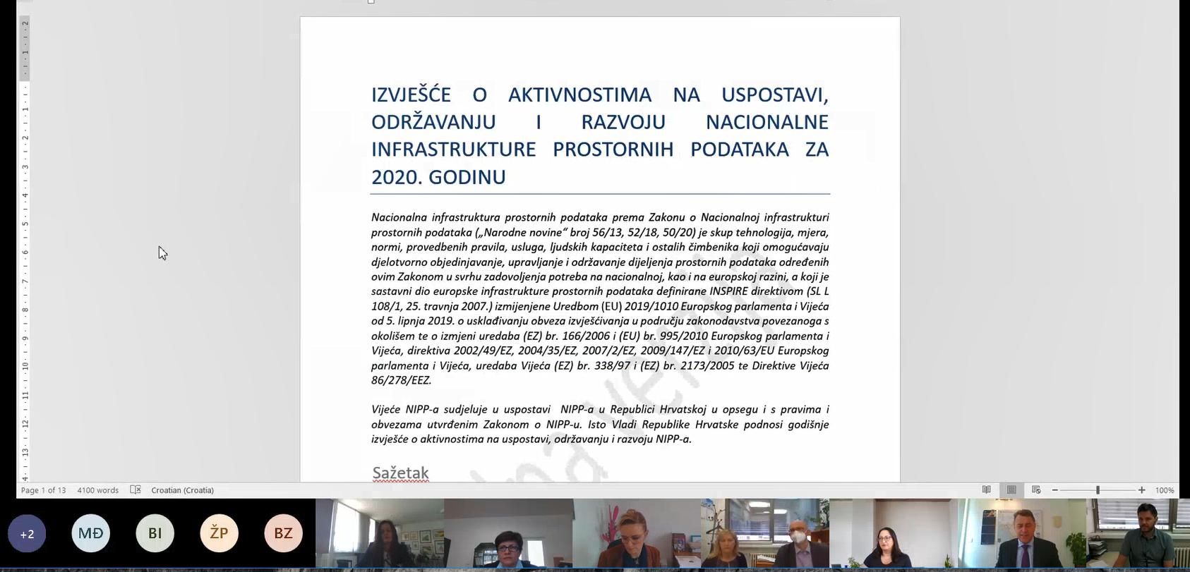 Slika prikazuje Izvješće