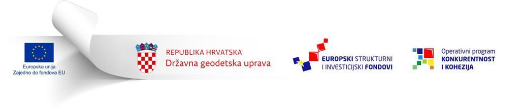 Lenta Europske unije, Republike Hrvatske - Državne geodetske uprave, Europskih strukturnih i investicijskih fondova te Operativnog programa Konkurentnost i kohezija.