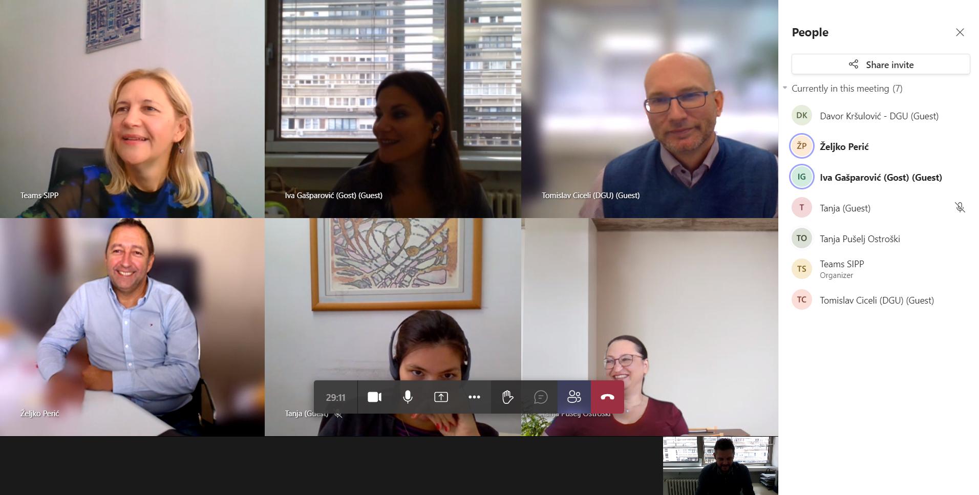 Slika prikazuje sudionike sjednice Odbora NIPP-a