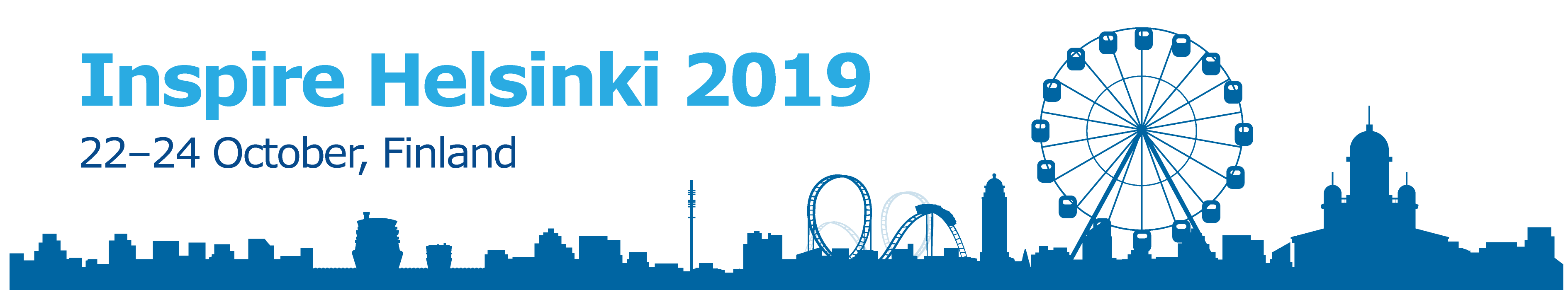 The picture shows the logo of the INSPIRE Helsinki 2019 conference.