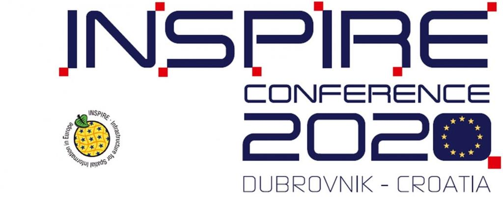 The picture shows the logo of the INSPIRE 2020 conference, Dubrovnik, Croatia.