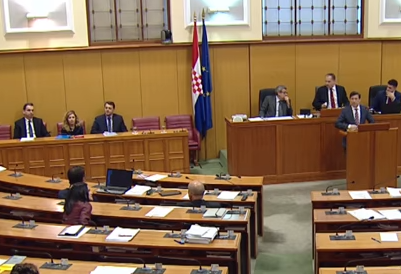 The picture shows the members of the Croatian Parliament.