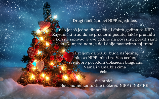 čestitka božićna novogodišnja NIPP   Božićna i novogodišnja čestitka čestitka božićna novogodišnja
