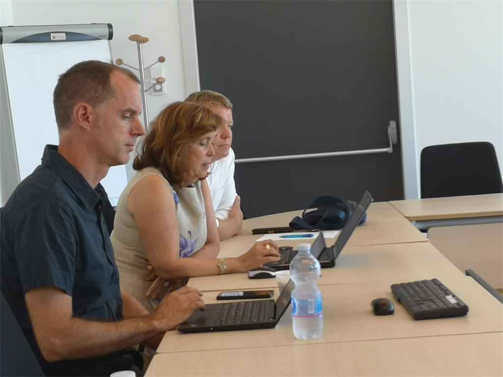 The picture shows the representatives of the Joint Research Center in Ispra, Italy, during the training.