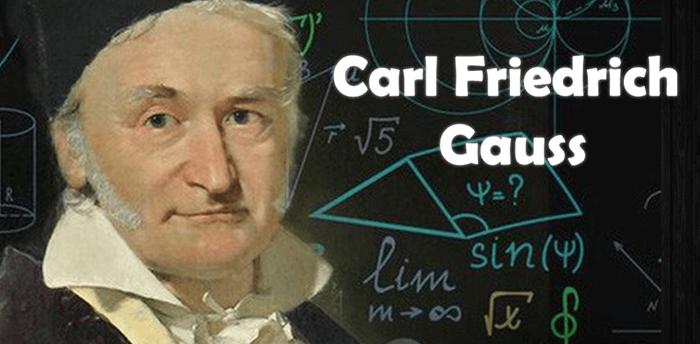Slika prikazuje C. F. Gaussa